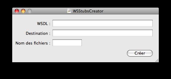 Interface simple de WSStubsCreator