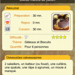 Application Gourmandise pour iPhone