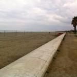 Plage de sable au sud de Bastia