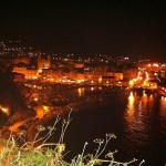 Port de plaisance de Bastia de nuit