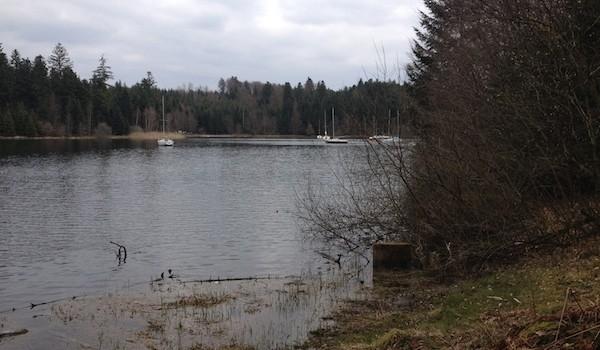 Petits bateaux sur le Lac de Pierre-Percée