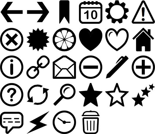 Icônes vectorielles
